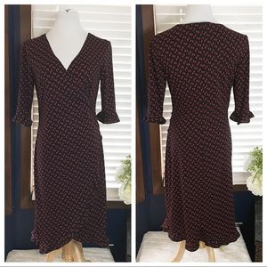 Connected Apparel Black & Red Salsa Dress Large